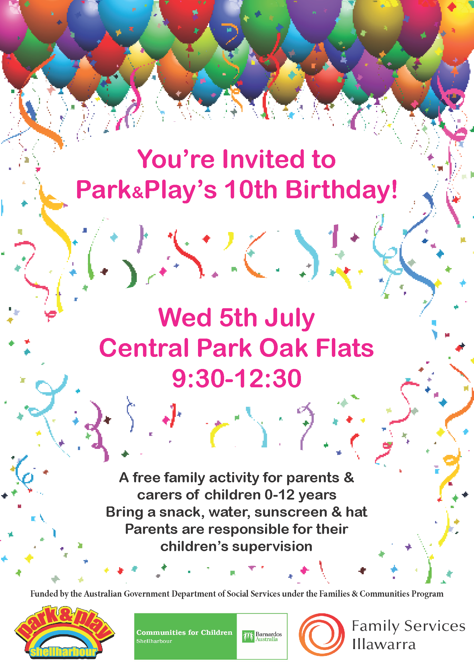 PP 10th Birthday Holiday Session Flyer